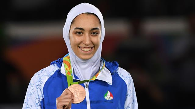 Iran's only female Olympic medallist says she has defected