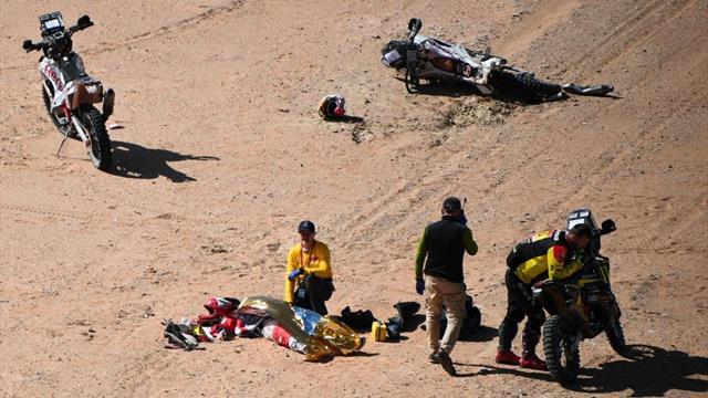 Dakar 2020: Dolor y rabia en la caravana por la muerte de Gonçalves y un homenaje al piloto