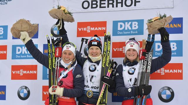 Makarainen sees off Eckhoff in biathlon mass start
