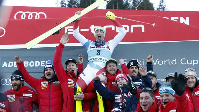 Yule ends 13-year Swiss wait for home slalom win in dramatic fashion