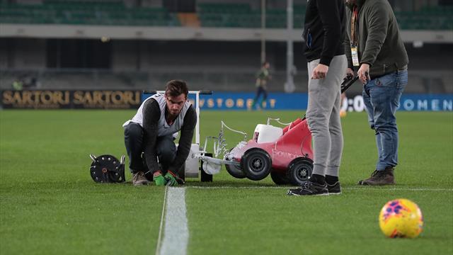 Un match de Serie A retardé pour... des lignes pas droites