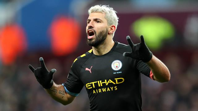 Record-breaking Aguero stars as City destroy Villa to go second