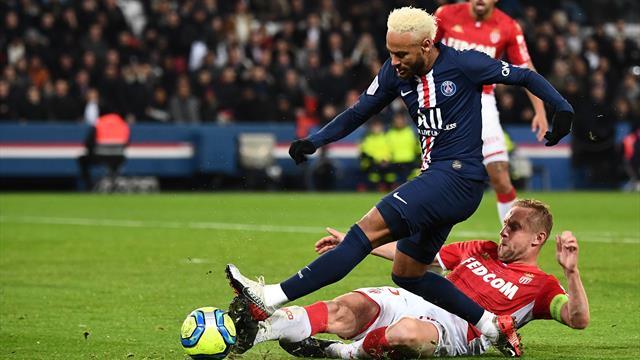 Al PSG non basta un super Neymar: 3-3 pirotecnico col Monaco al Parco dei Principi