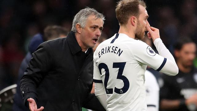 'I'm not an idiot, I understand,' says Mourinho after Eriksen jeered off