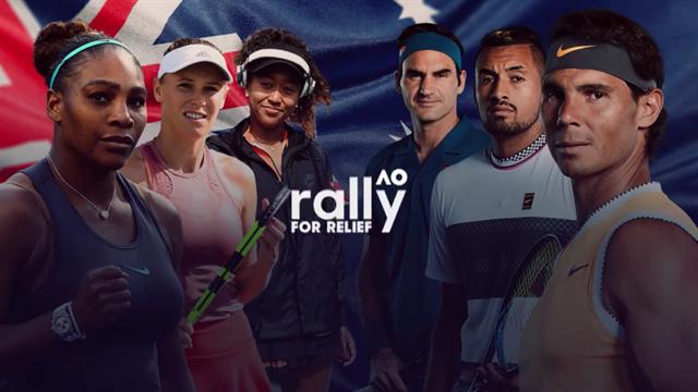Rally for Relief: Das Benefiz-Spiel der Tennis-Stars live bei Eurosport