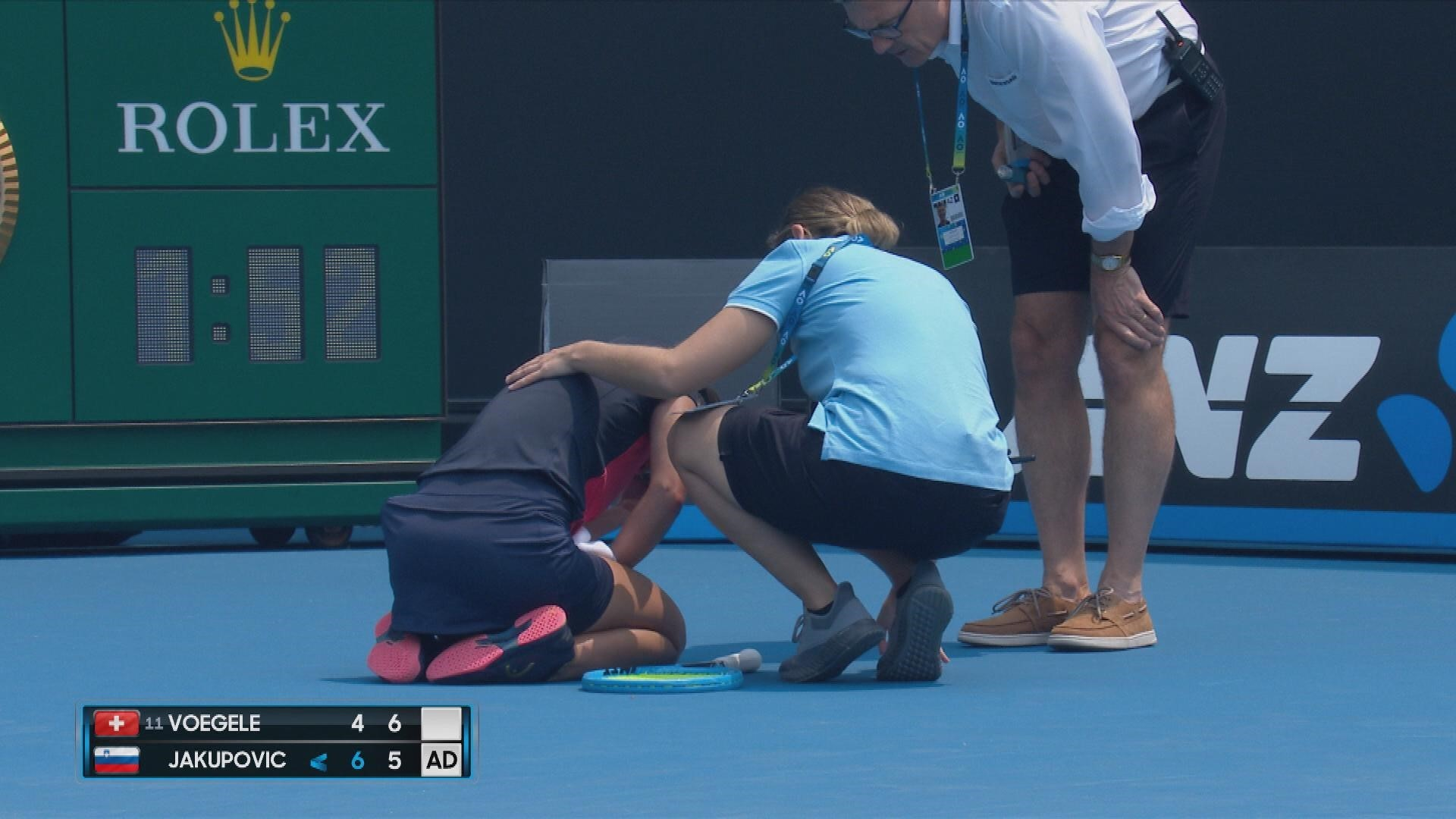 Dalila Jakupovic muss nach Hustenabfall aufgeben (Australian Open)
