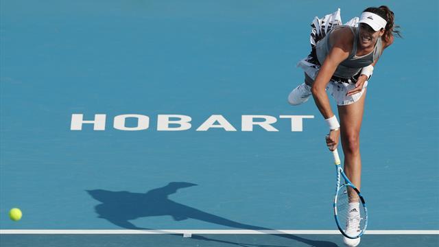 WTA Hobart, Wang-Muguruza: Victoria y buenas sensaciones para empezar