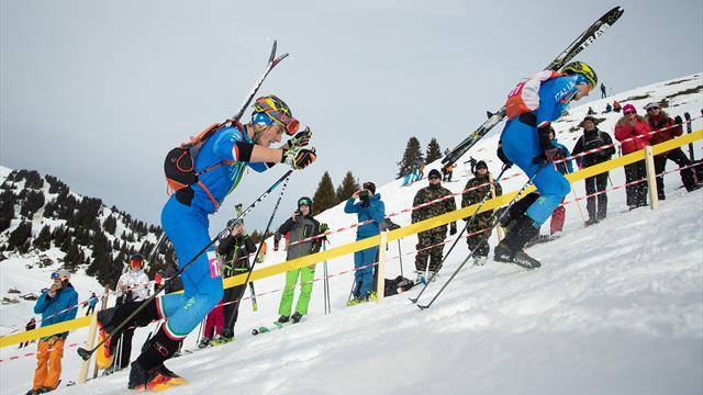 Vollgas die Piste hoch: Kampf um Gold im Ski Mountaineering