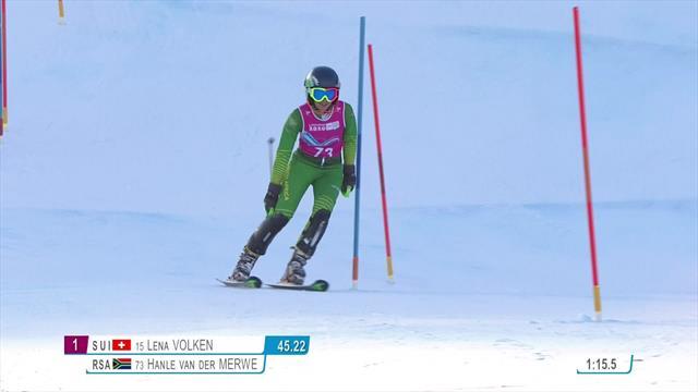 JJ.OO. de la juventud, esquí alpino: La sudafricana hace 'lo que puede' en una bajada indescriptible