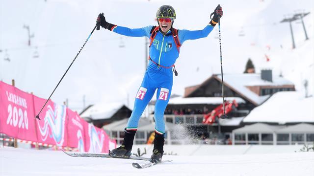 Olimpiadi Invernali Giovanili: il primo oro azzurro arriva dallo sci alpinismo, ecco le immagini