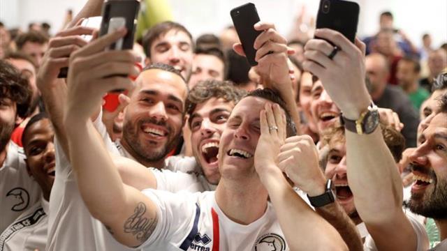 El júbilo y la emoción llegó al Unionistas tras el 'gordo' de la Copa del Rey