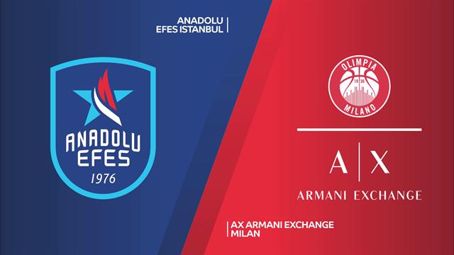 Highlights: Anadolu Efes Istanbul-AX Armani Exchange Milano 88-68