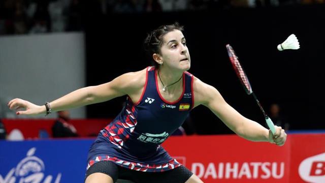 Marín resuelve por la vía rápida su primer partido en el Master de Indonesia