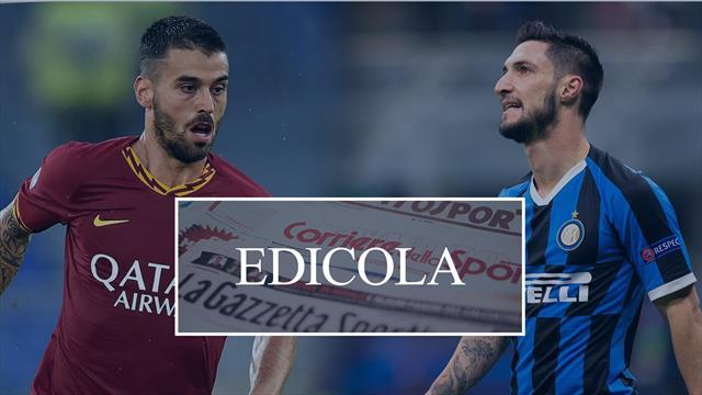 Edicola: Spinazzola-Politano oggi le visite. Milan, Piatek via a 30mln. Cavani subito all'Atletico?
