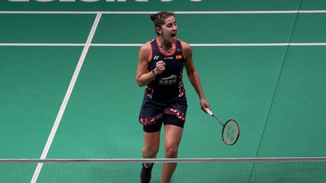 Carolina Marín resuelve por la vía rápida su primer partido en Indonesia