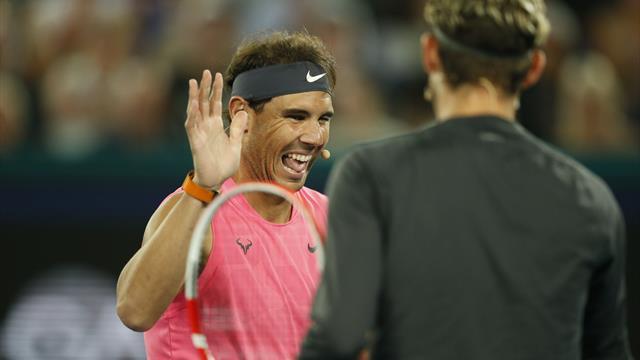 Un doigt d'honneur pour annoncer la combinaison : la blague de Nadal à Djokovic