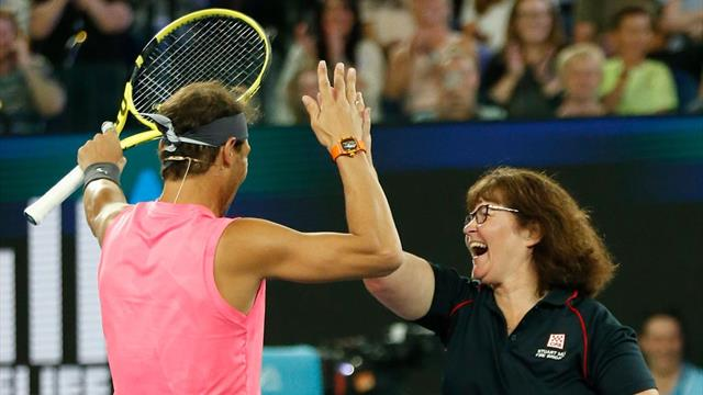 Fire-fighting Deb plays alongside Nadal at Rally for Relief
