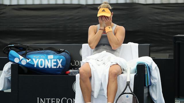 Blessée, Kerber abandonne et inquiète avant Melbourne