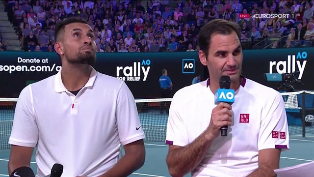 """Federer: """"Felice di aiutare. Allenamento pre Australian Open? No, c'è un messaggio: donate!"""""""