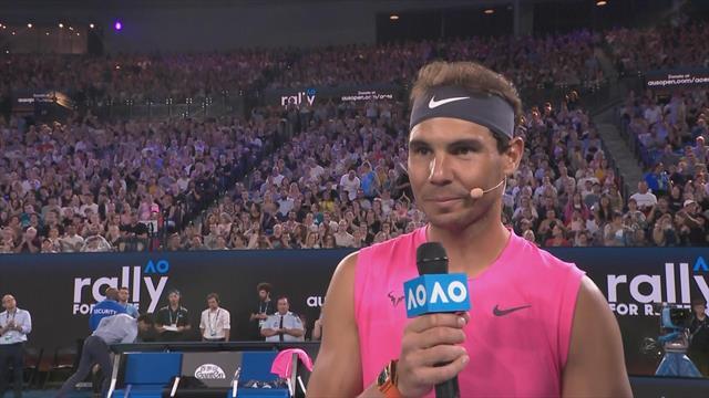 Australian Open, Rally for Relief: Nadal y Federer donan 155.000 euros contra los incendios