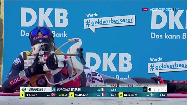 Dorothea Wierer con lo zero dopo 13 mesi! L'azzurra è 3a nella sprint di Ruhpolding