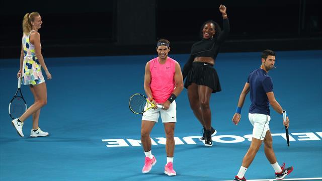 Risate, gag e tanto spettacolo: gli highlights della supersfida Team Williams vs. Team Wozniacki