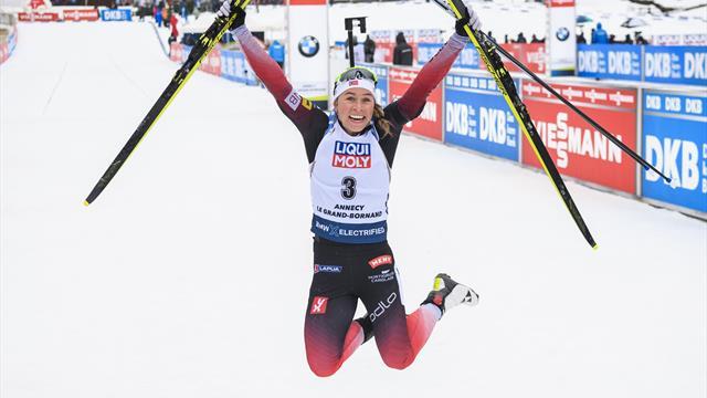 Eckhoff seals biathlon World Cup sprint victory