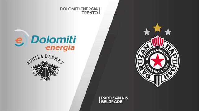 Highlights: Dolomiti Energia Trento-Partizan Belgrado 59-83