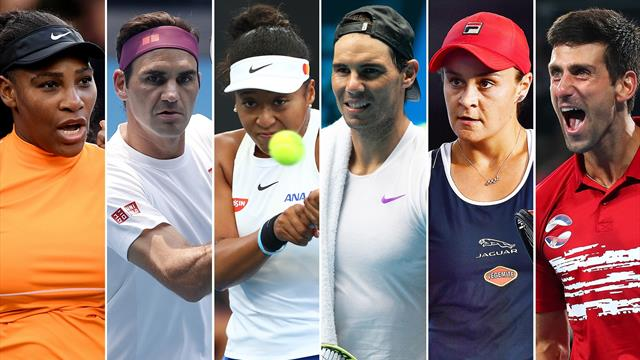 Who could the six favourites face on their path to glory in Melbourne?