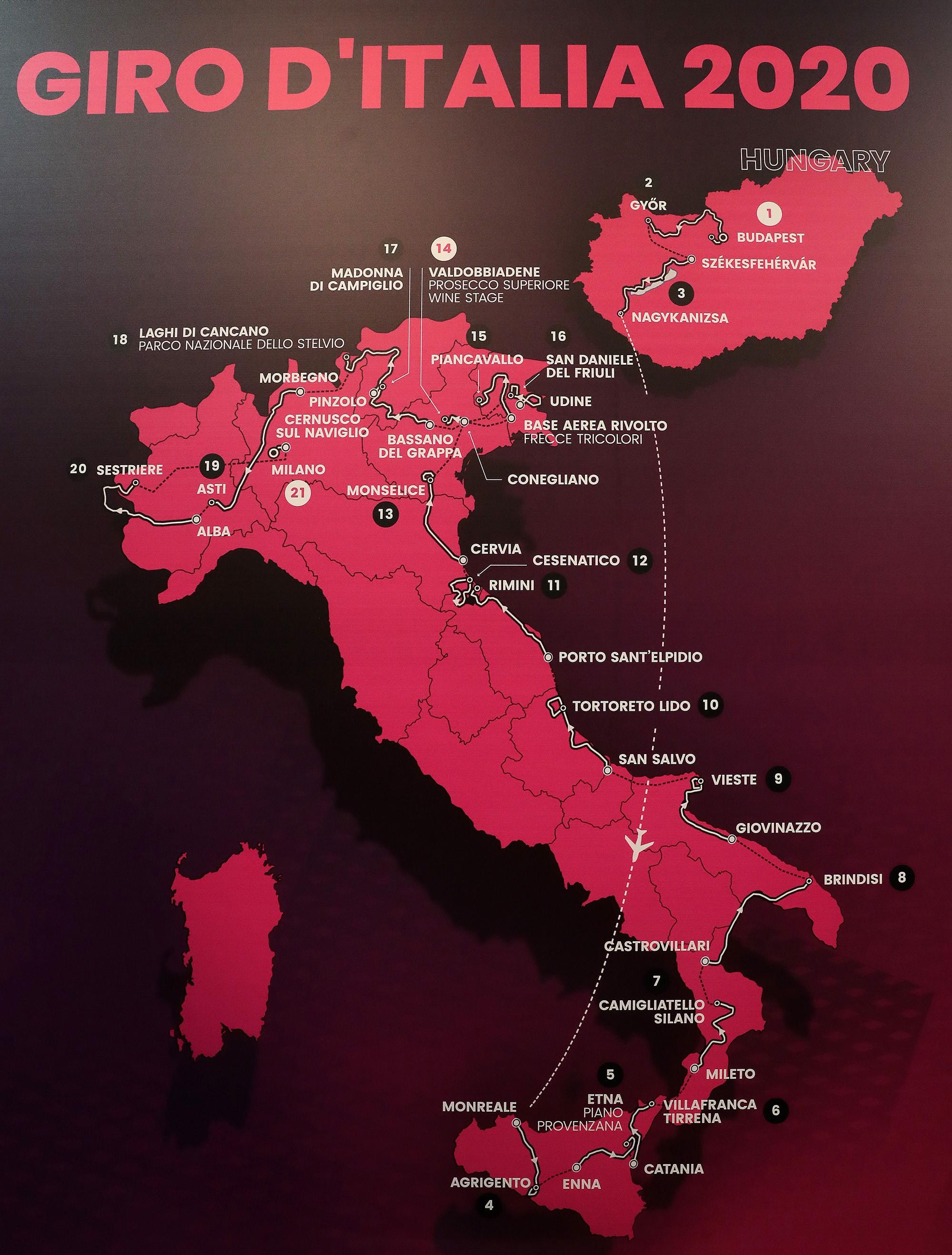 Giro 2020 - The original route