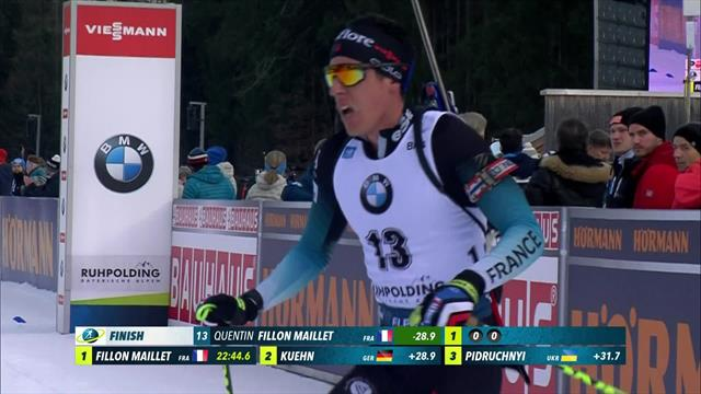 Fillon Maillet takes second behind Fourcade