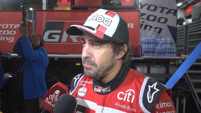 """Fernando Alonso, en modo Le Mans en el Dakar: """"Adelanté como a 60 coches"""""""
