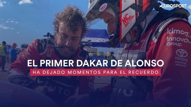 Los momentazos de Alonso en su primer Dakar: De hacer de mecánico a dar dos vueltas de campana