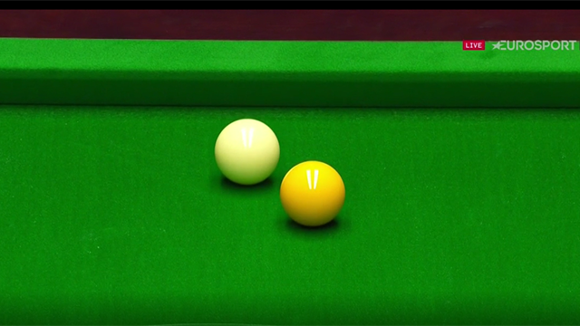 Did Ali Carter hit the yellow as he claimed or was it a foul?