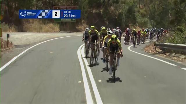 Women's Tour Down Under | Amanda Spratt pakt etappe 2 en de leiding in het klassement