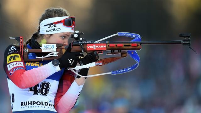 Норвегия выиграла женскую эстафету в Рупольдинге, Россия – 11-я