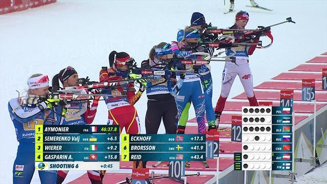 Белорусская биатлонистка стреляла по мишеням сборной России и запутала Кристину Резцову