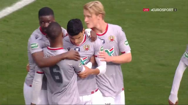 Nice a fait le break en trois minutes : les buts de Danilo et Ganago