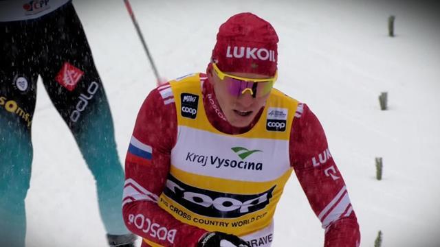 Поломка палки и жуткий снегопад не помешали Большунову разнести соперников в гонке на 15 км