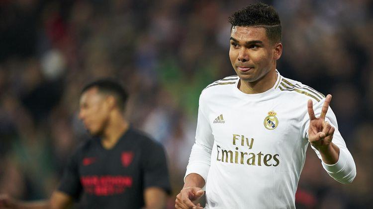 Real Madrid V Sevilla Fc Casemiro Brace Seals Real Madrid Win