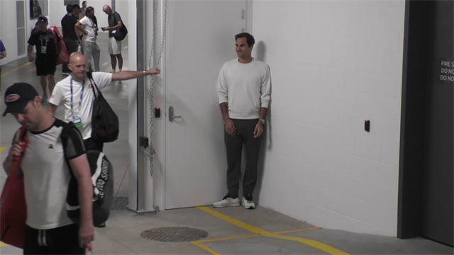 Watch Federer surprise his team with amusing game of hide and seek