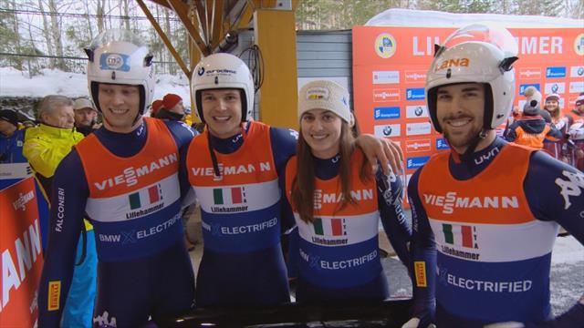L'Italia è seconda nella staffetta mista di Lillehammer