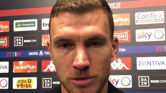 """Dzeko: """"A Roma sono felice. Spinazzola? Ha fatto una grande partita, è importante per noi"""""""