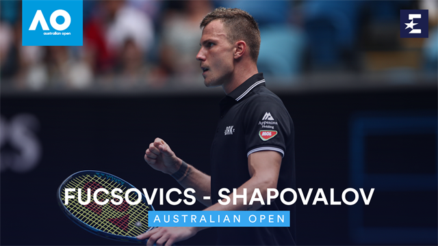 Open Australia 2020: Fucsovics-Shapovalov y llegó la primera gran sorpresa del torneo