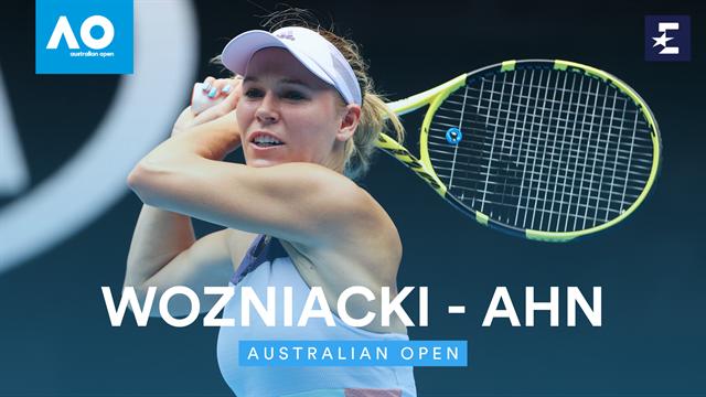 OpenAustralia 2020: Wozniacki-Ahn, la despedida empieza bien