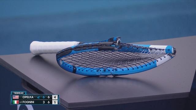 Open Australia 2020: Fognini se empeñó en romper su raqueta... ¡y la partió por la mitad!
