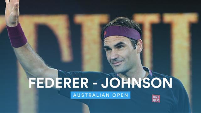 Highlights Federer Fillets Johnson In Sublime Start To Melbourne Campaign