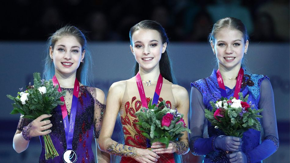 Алена Косторная, Анна Щербакова, Александра Трусова