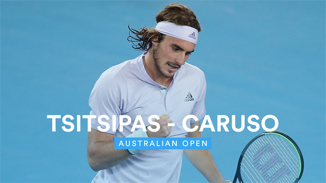 Highlights: Tsitsipas destroys Caruso in show of force