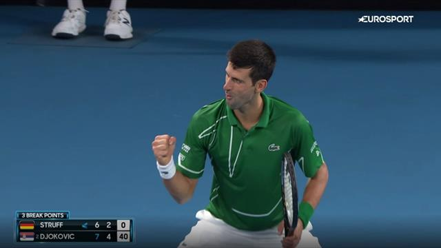 'Oh my goodness me! That was special!' - Incredible point from Djokovic